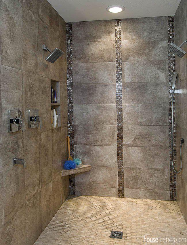 Interesting Way To Do Accents Modern Tile Backsplash Shower Tile Shower Accent Tile