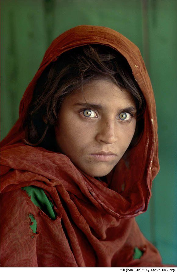 Afghan girl.  I well remember this awesome National Geographic cover as a child.