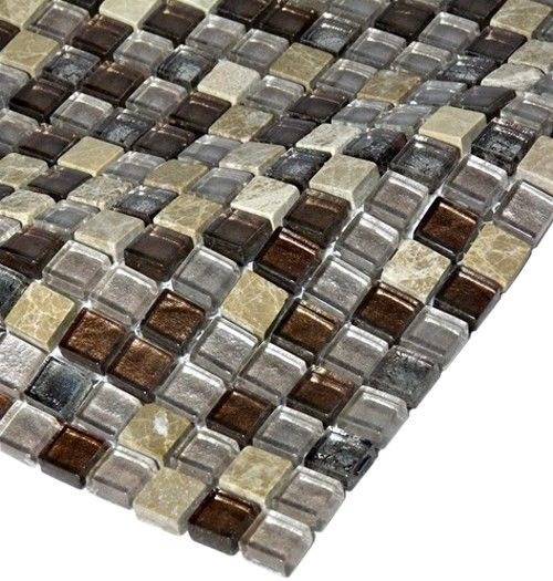 Marble Saddle For Bathroom: Leather Boot Brown 1/2X1/2 Squares Marble & Glass Tile