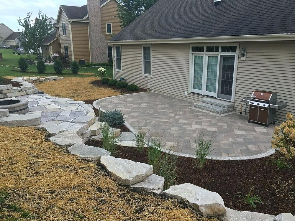 curved patio pavers custom curved patio flagstone patio ... on Curved Patio Ideas id=88320