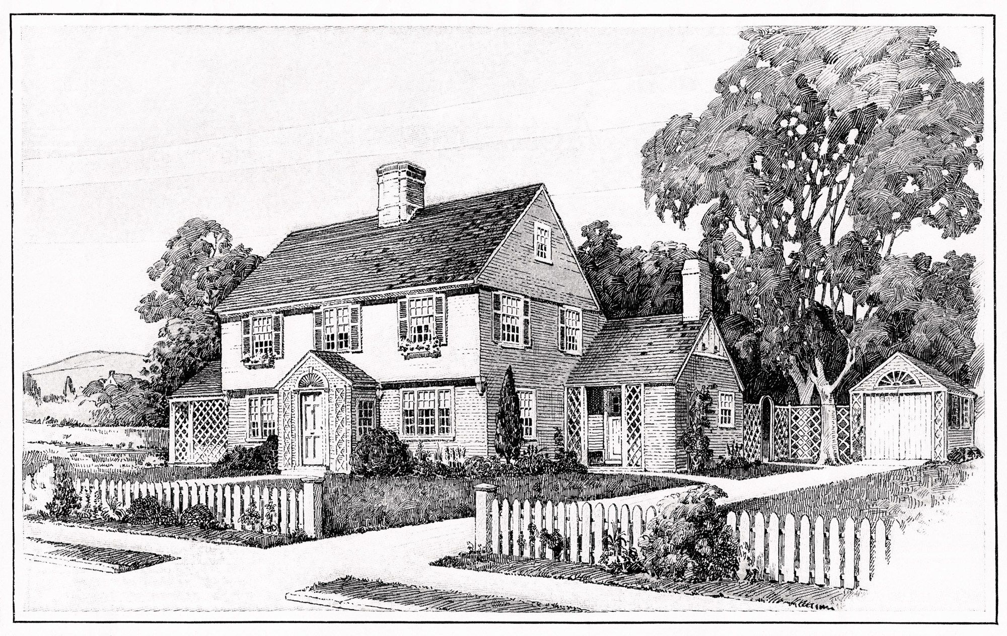 Vintage House Plans Old Fashioned Home Antique House Clipart Black And White House Illustration Vintage House Plans Vintage House House Illustration
