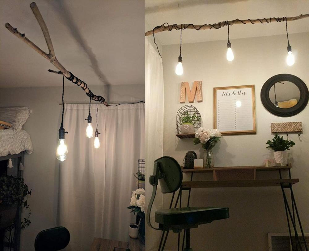 Diy Deckenleuchte Pendelleuchte Schwarz 5m Kabel Mit Schalter Und Stecker Kronleuchter 3 Flammig E27 Edison Bulb Hangela In 2020 Kronleuchter Pendelleuchte Hange Lampe