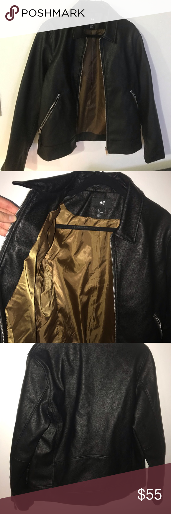Men's H&M faux leather jacket. Medium Leather jacket