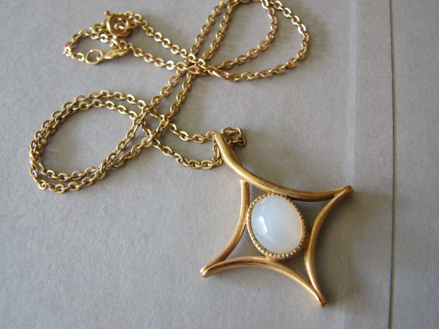 Vintage sarah coventry gold and opal north star necklace vintage sarah coventry gold and opal north star necklace aloadofball Images