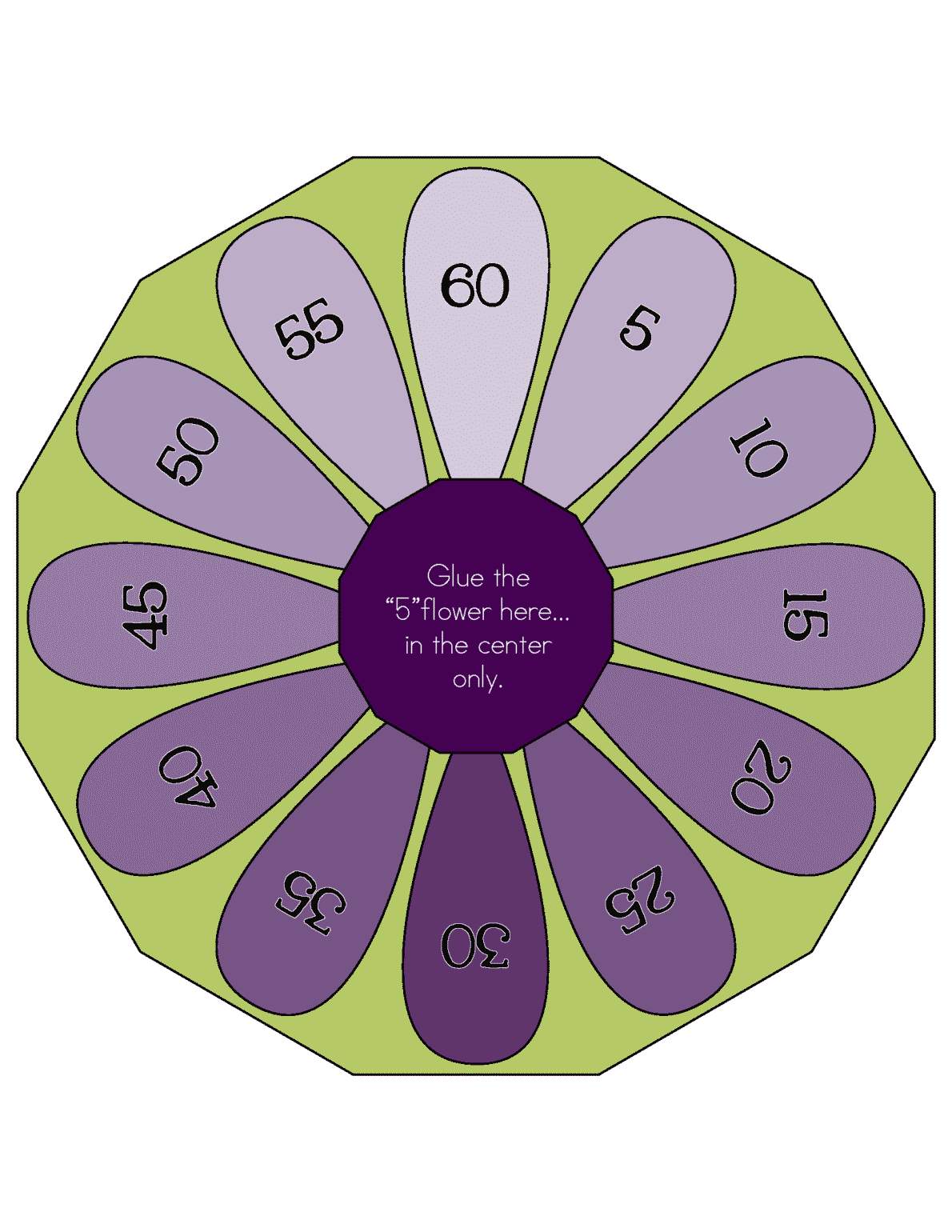 Multiplication Flower Wheels 0 12 Lll Page 13