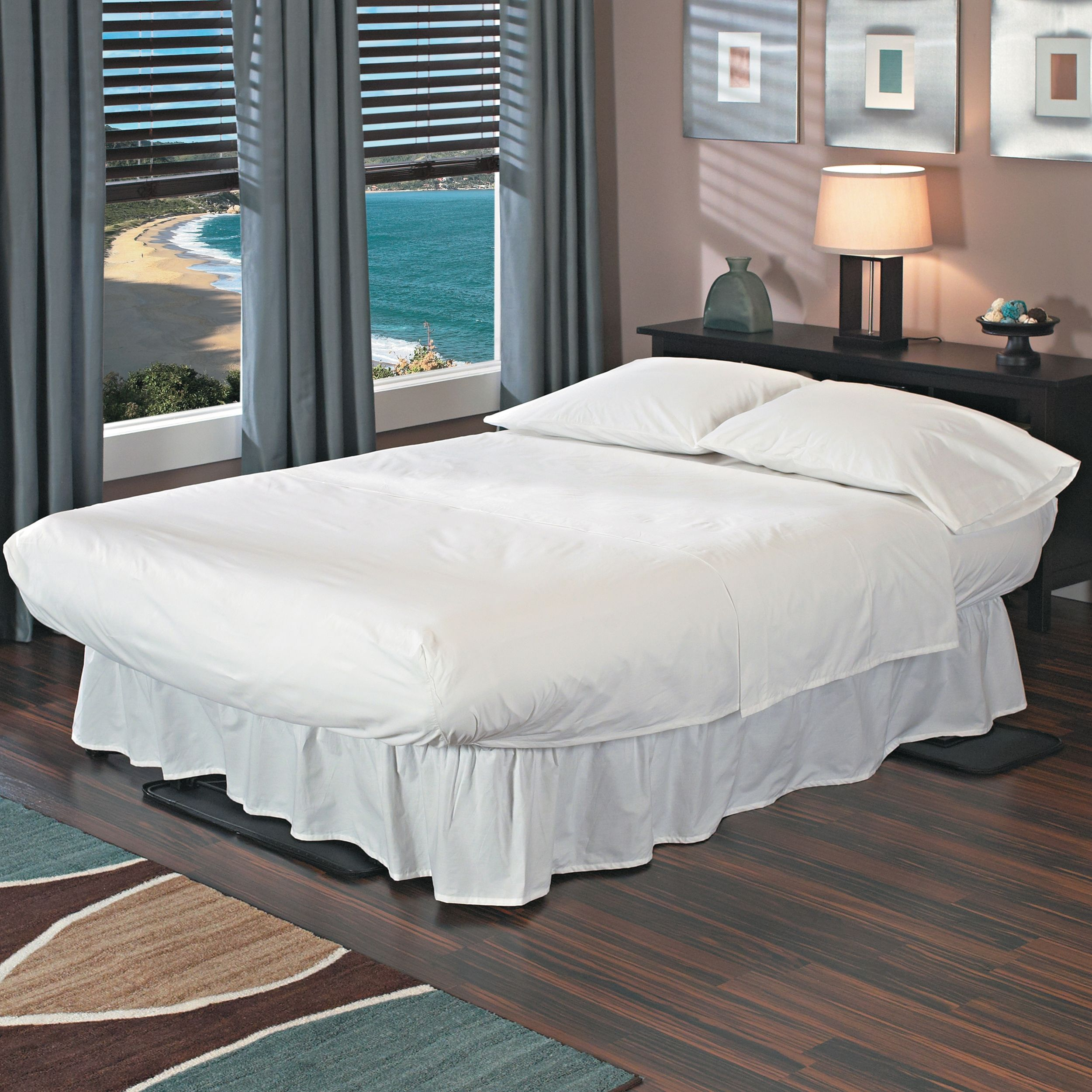 flat queen mattress is bed headboard with itm loading pump image raised never gray insta air frame