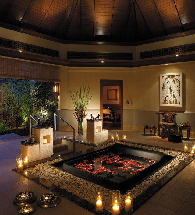 Soir e romantique bain aux p tales pour la saint - Salle de bain romantique photos ...