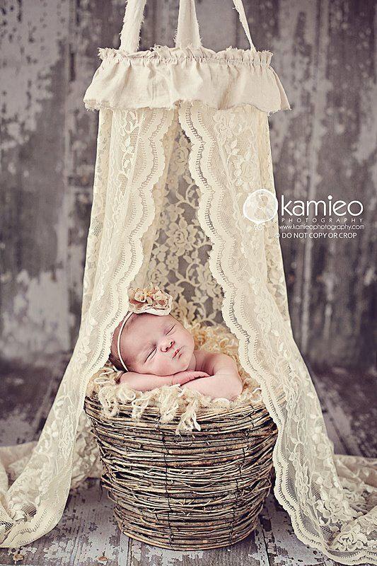 the original lace newborn canopy . . . photography prop