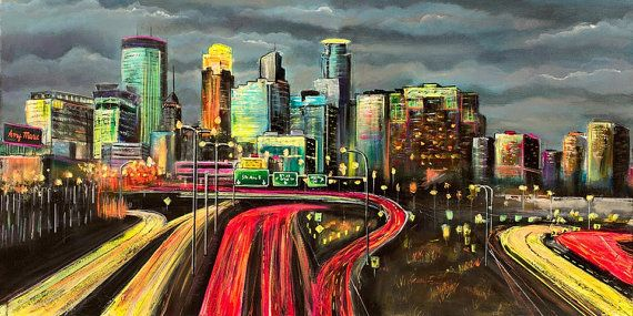 Minneapolis Skyline Art Minneapolis Skyline Wall Art Minneapolis Skyline Skyline Art Skyline