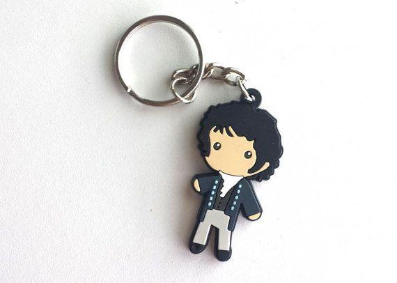 Mr. Darcy Figure Keychain Charm Jane Austen Book Pride & Prejudice Cute Great Gift