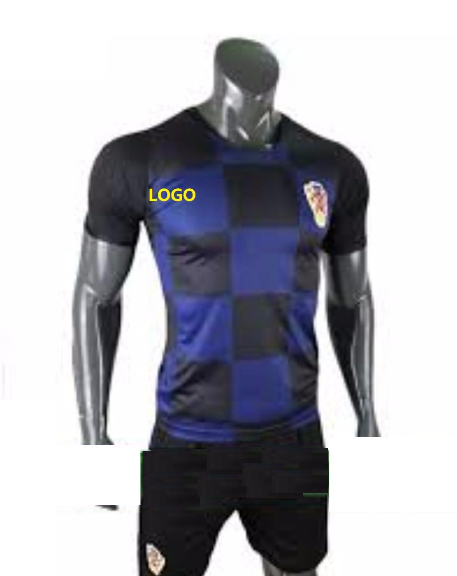 dd9117a0e 2018/19 AAA Men Croatia Away Blue Soccer UniformCustomize | Soccer ...