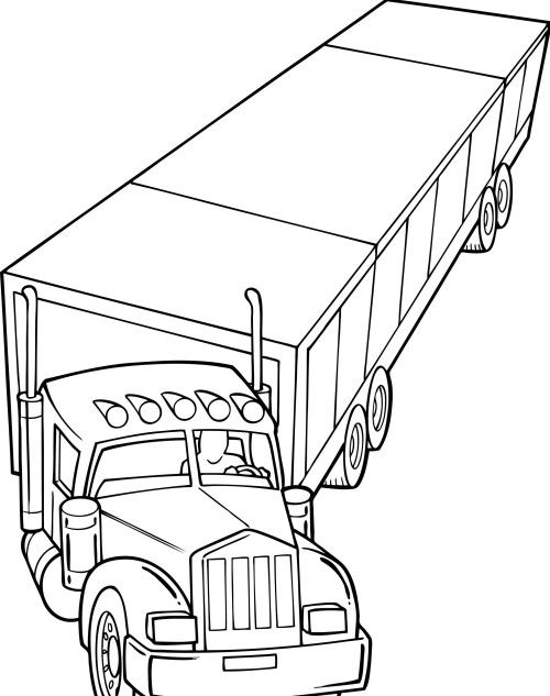 Long Truck Coloring Page Cars Coloring Pages Truck Coloring