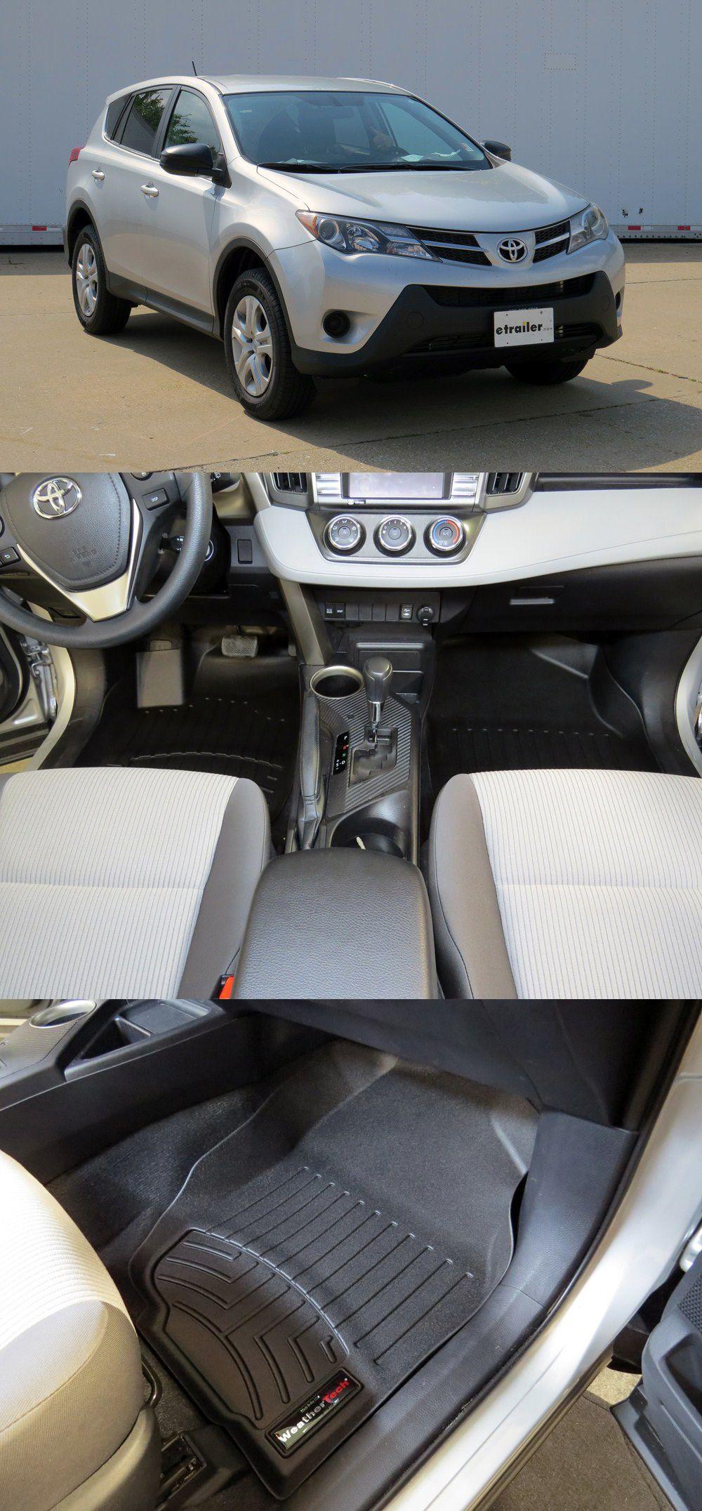 WeatherTech Front Auto Floor Mats Black Rav4, Toyota