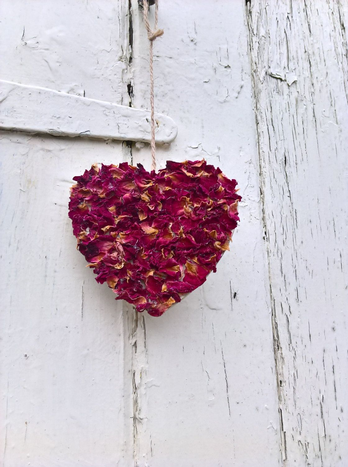 Valentine Petal Heart Decoration Hanging Heart Dried Flowers Dried Petals Valentine Gift Home Decor Weddin Heart Decorations Dried Flowers Hanging Hearts