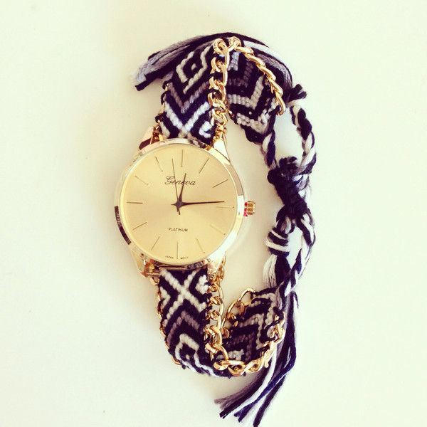 braided chain wrist in gold rope bracelet watch item ethnic pc knitted with dial on girl women watches thread weaved from dreamcatcher elephant s