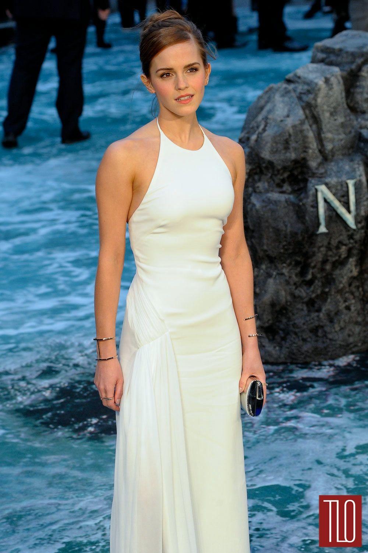 White dress emma watson - Emma Watson Noah London Premiere Ralph Lauren Collection