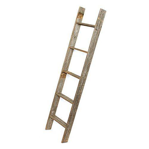 Decorative Ladder Reclaimed Old Wooden Ladder 4 Foot Rustic Barn Wood Ladder Decor Old Wooden Ladders Wooden Bookcase