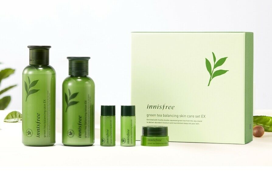 Innisfree Green Tea Balancing Skin Toner 200ml Lotion 160ml Ex Set Kore Innisfree Sản Phẩm Chăm Soc Da Chăm Soc Da