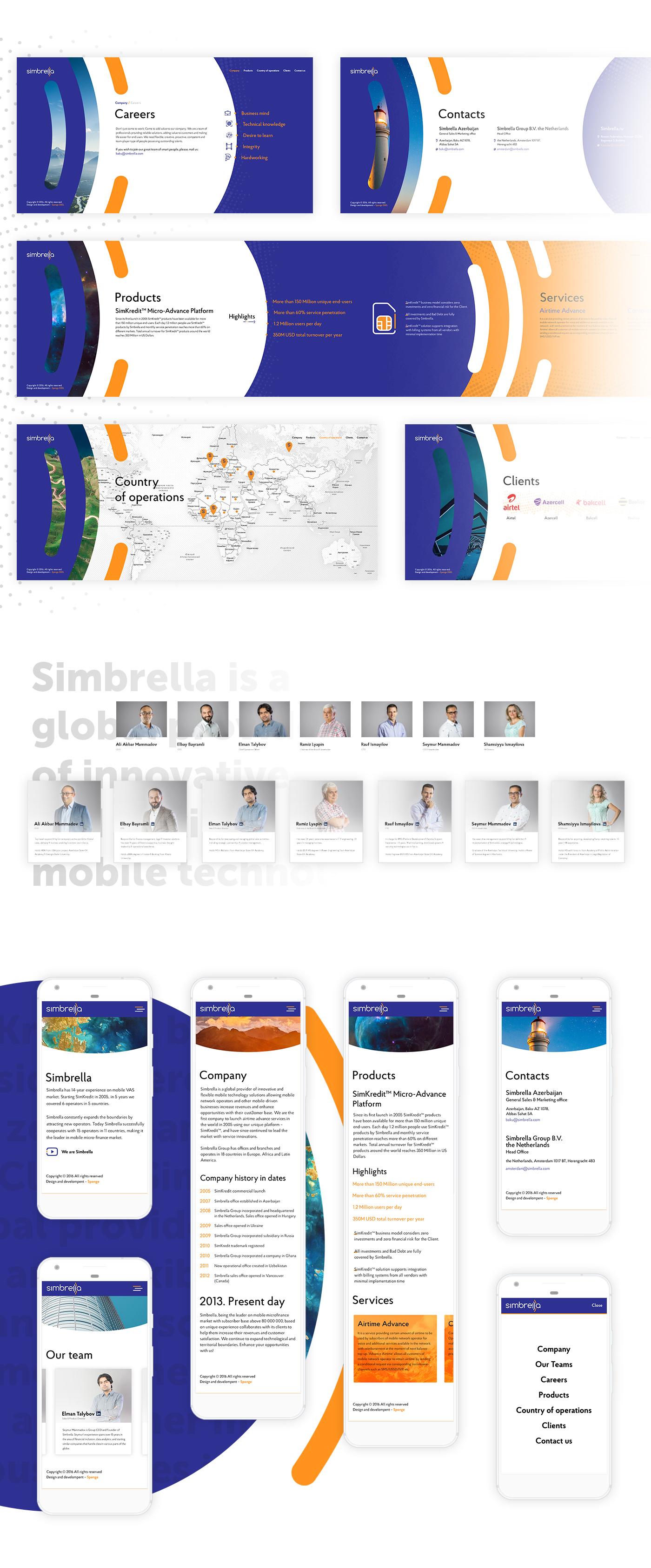 Corporate Promotional Website For Simbrella Simbrella Creates Products For Mobile Operators All Over The World The Comp Mobile Operator Site Design Web Design