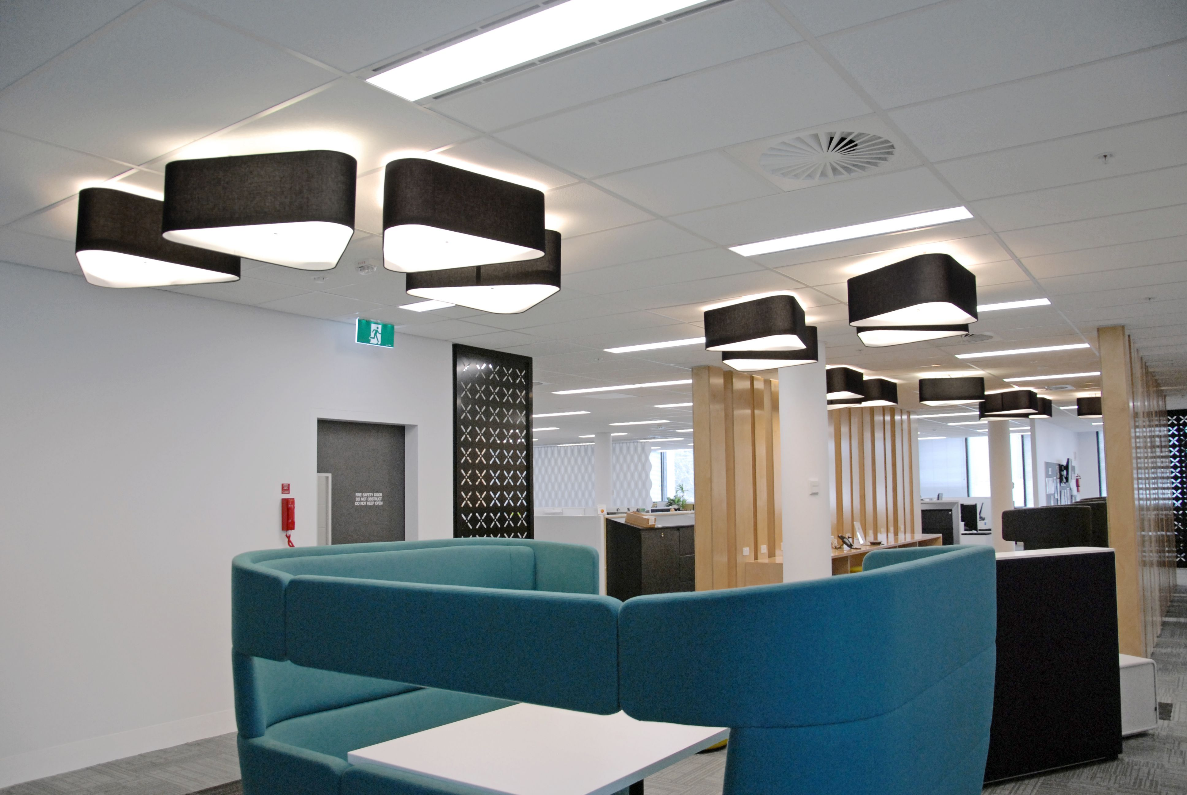 Department Of Human Services Office Canberra Fractal Pendant Lights Lights Pendantlights Pendantlight Int Workspace Design Office Design Interior Design