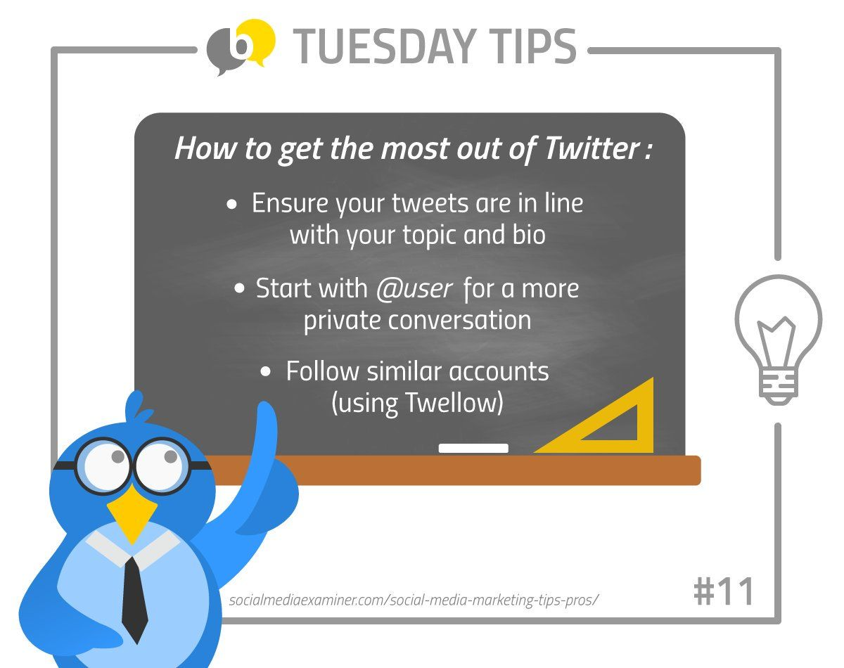 Buzzoole's Social Media and Marketing Tips: How to get the most out of Twitter #TuesdayTips
