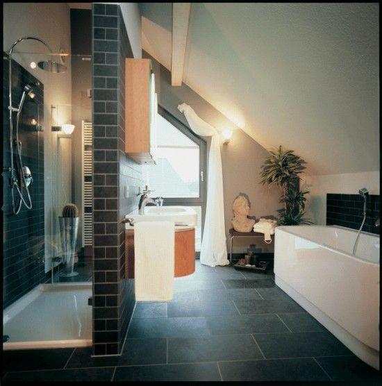 Fertighaus Wohnidee Badezimmer altes Musterhaus CENTRO ...
