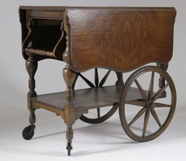 636 Antique Mahogany Drop Leaf Tea Cart On Dream House