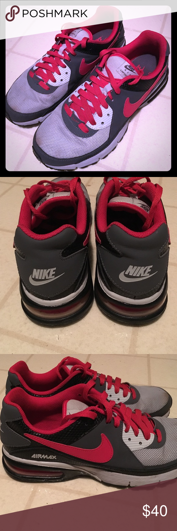 brand new 66c69 8090a Nike Air Captivate! Red, grey, charcoal Nike Shoes Athletic Shoes