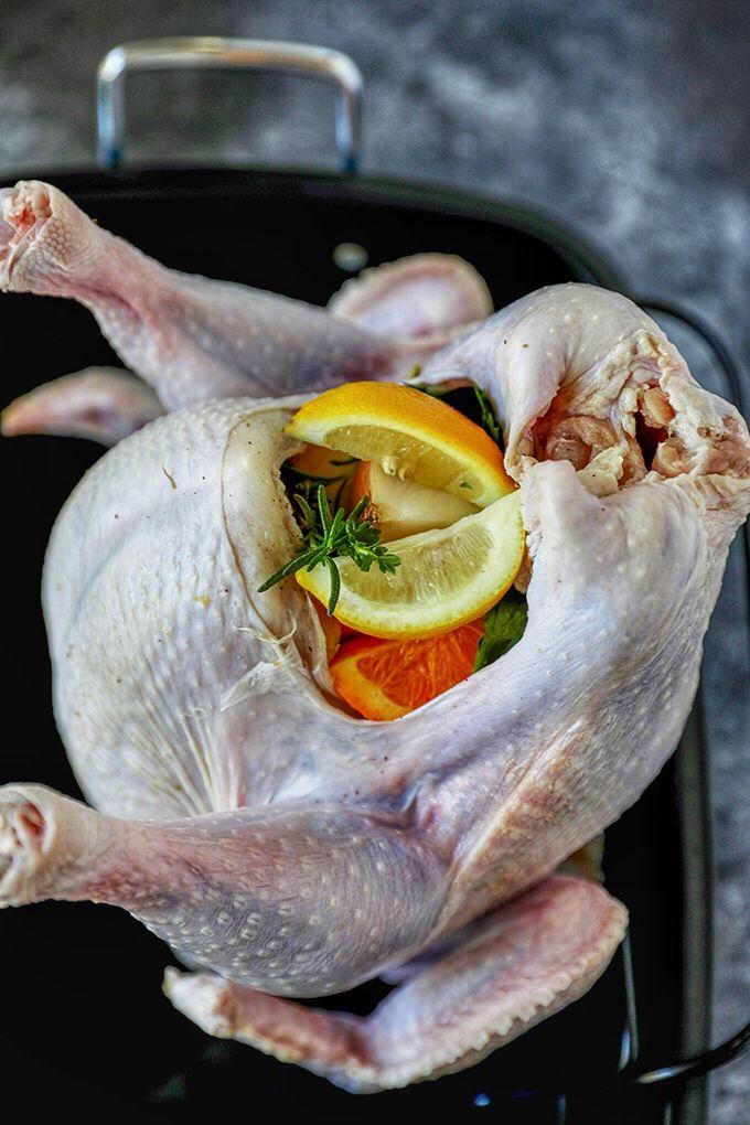 Garlic Herb Butter Thanksgiving Turkey Recipe