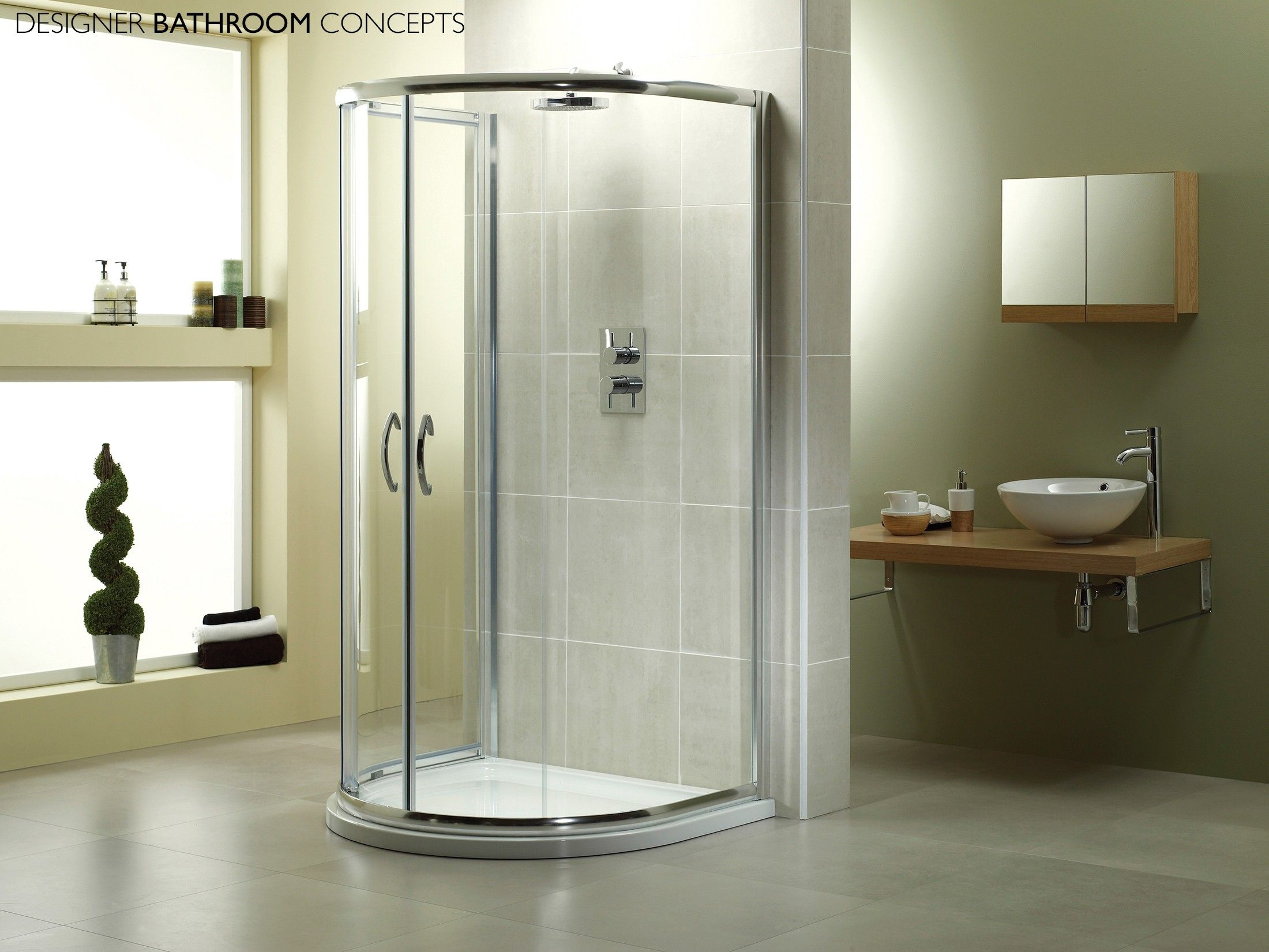 Identiti Designer U Shaped Quadrant Shower Enclosure from ...