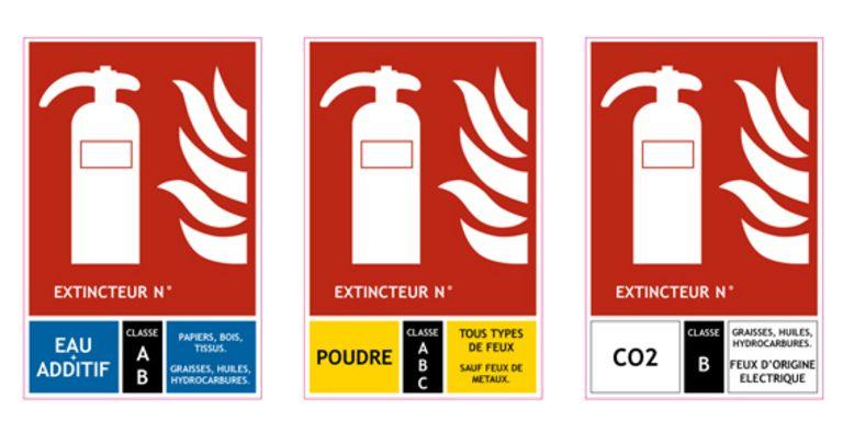 signalisation incendie panneaux extincteurs le triangle du feu pinterest extincteur. Black Bedroom Furniture Sets. Home Design Ideas