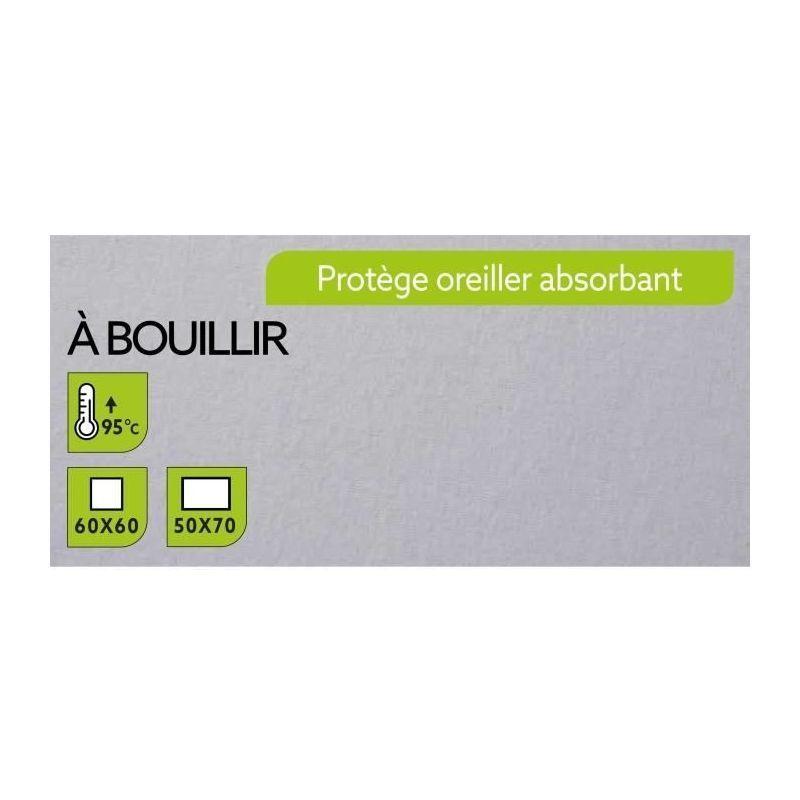 TODAY PROTEGE OREILLER ABSORBANT A BOUILLIR 60X60CM - 100% COTON 100929