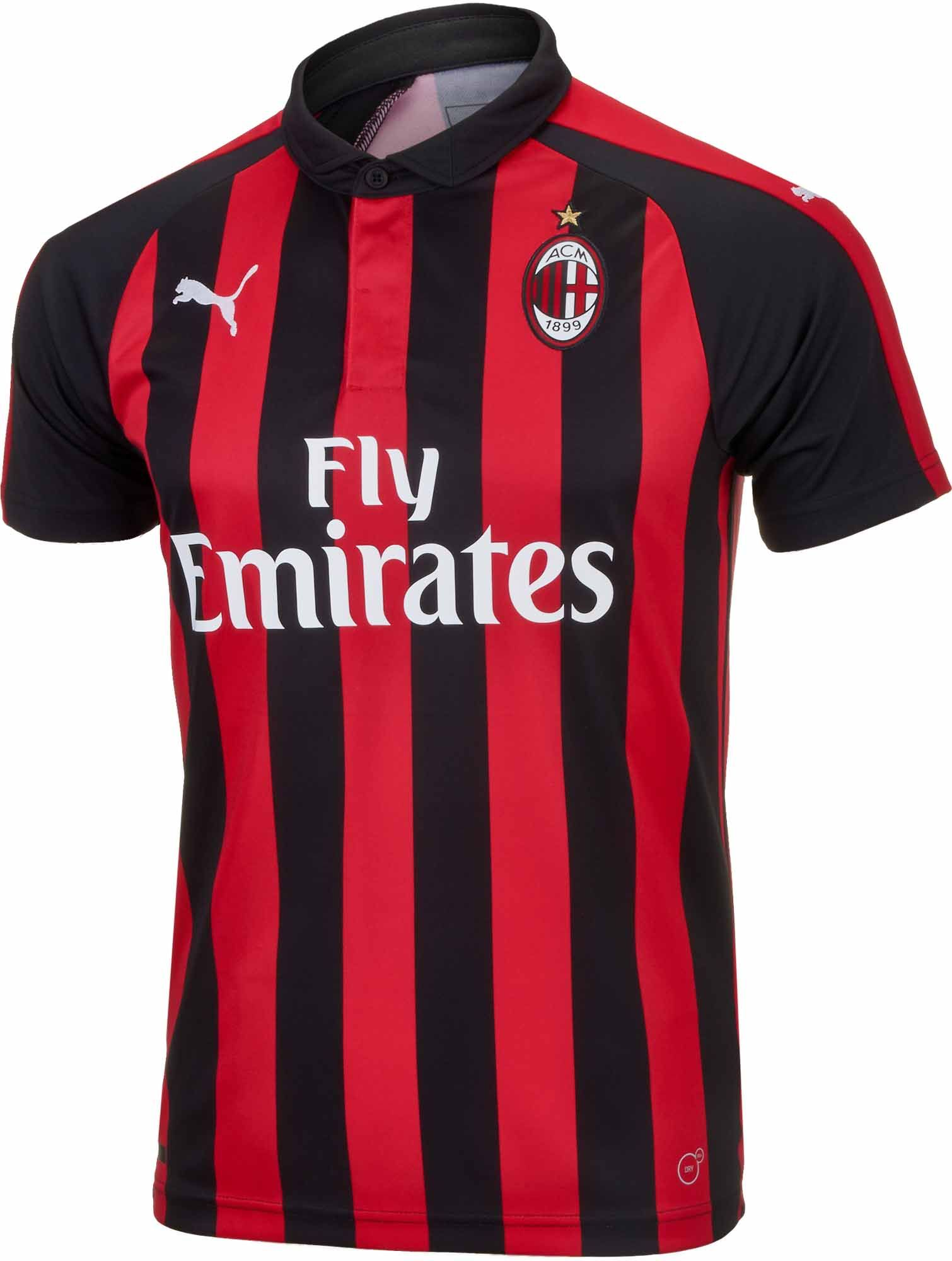 4236a836d 2018 19 adidas AC Milan Home Jersey. Available right now from  www.soccerpro.com