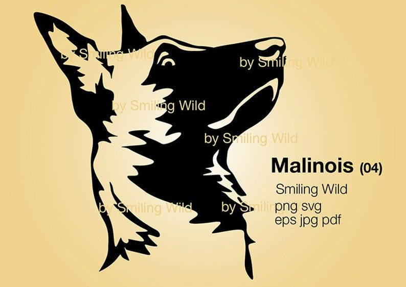 Malinois Svg Clipart Printable Dog Head Belgian Malinois Etsy In 2021 Malinois Belgian Malinois Dog Vector