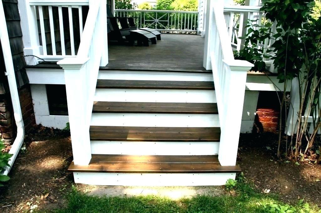 White Porch Railing Step Stair Ideas How To Add A Vinyl ...