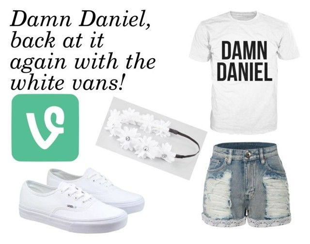 """""""Damn Daniel"""" by xxsilentsilverxx ❤ liked on Polyvore featuring Vans, LE3NO and Full Tilt"""