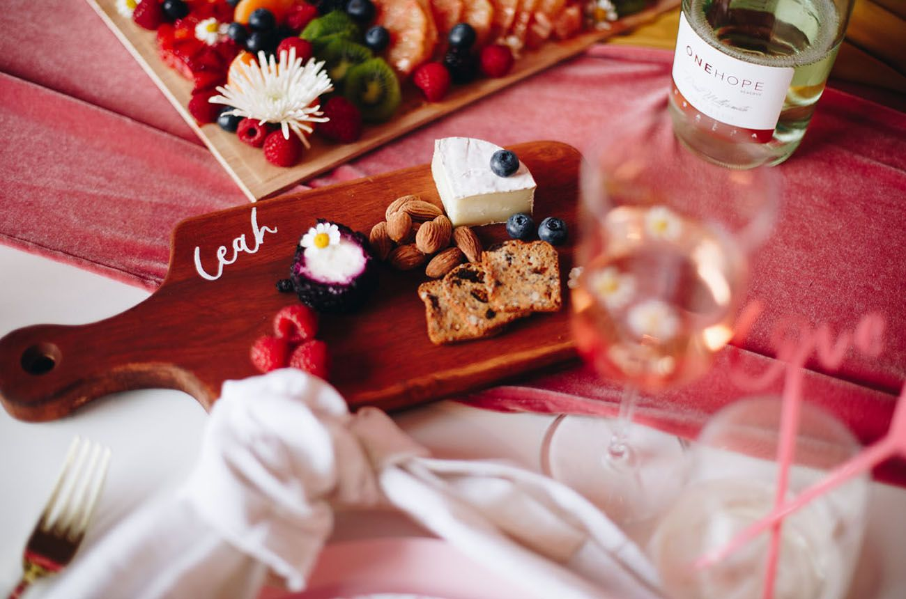 Rose Rose Gold The Ultimate Galentine S Wine Cheese Night Wine Cheese Personalized Cheese Board Cheese