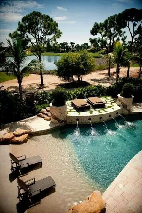 Zero Entry Pool Design Photo Of Good Beach Entry Swimming Pool A Grateful  Life Property