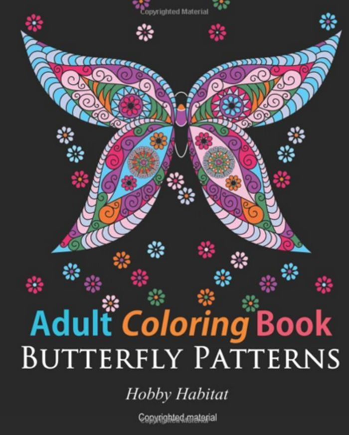 Beautiful Adult Coloring Books Butterfly Zentangle Patterns 31 Therapy 2016 NEW