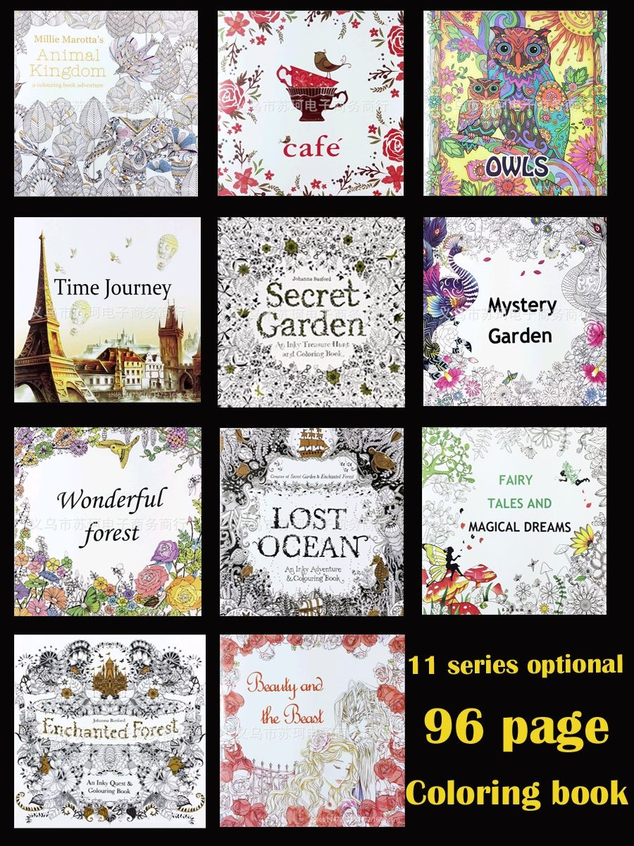 11 Optional 1 PCS Secret Garden Coloring Animal Kingdom Decompression The Of Book
