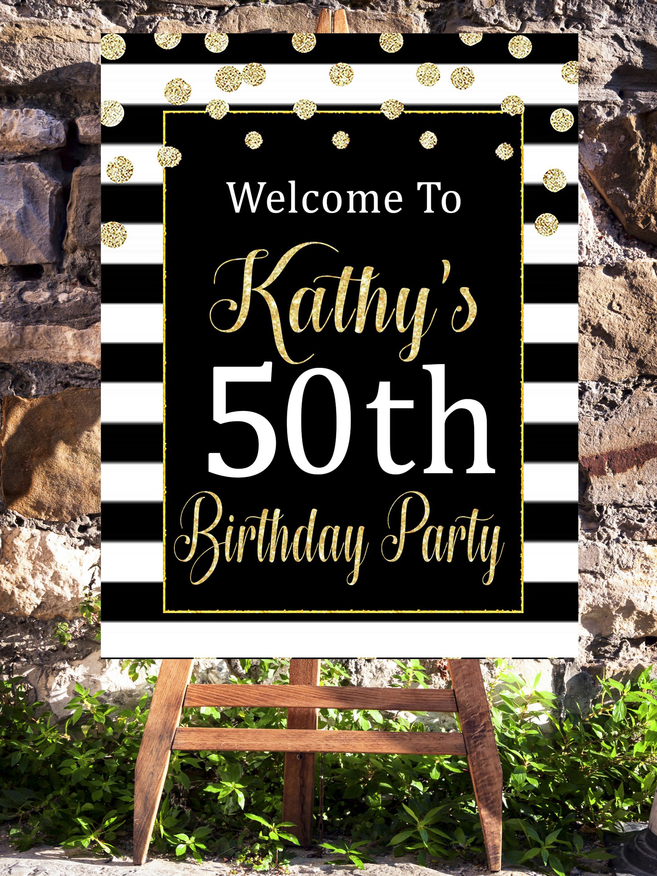 50th and fabulous birthday Decorations/ 50th birthday party printables #birthday , #birthdayparty , #party, #partyideas , #partydecor #50thbirthdaypartydecorations