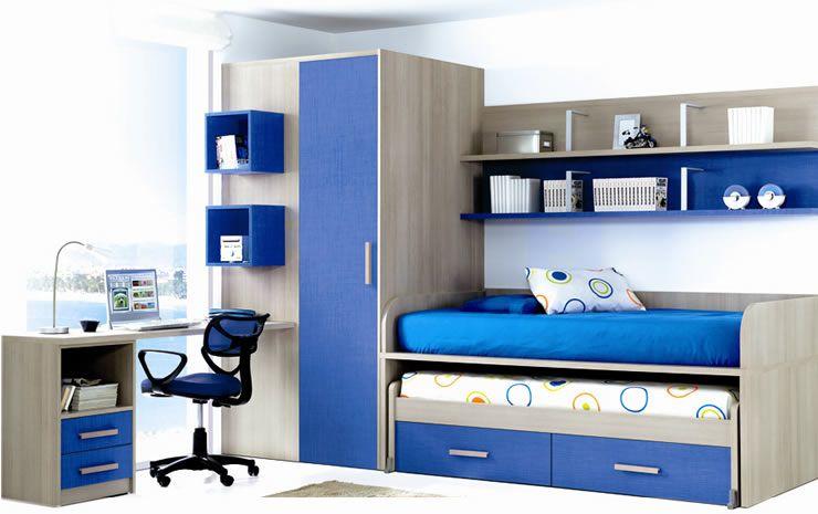 Dormitorio juvenil moderno varios colores muebles boom for Muebles juveniles modernos