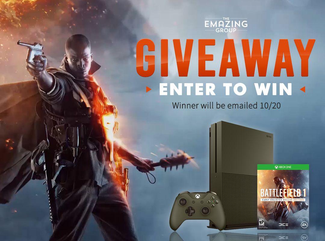 Battlefield 1 Xbox One S Bundle Giveaway Battlefield 1