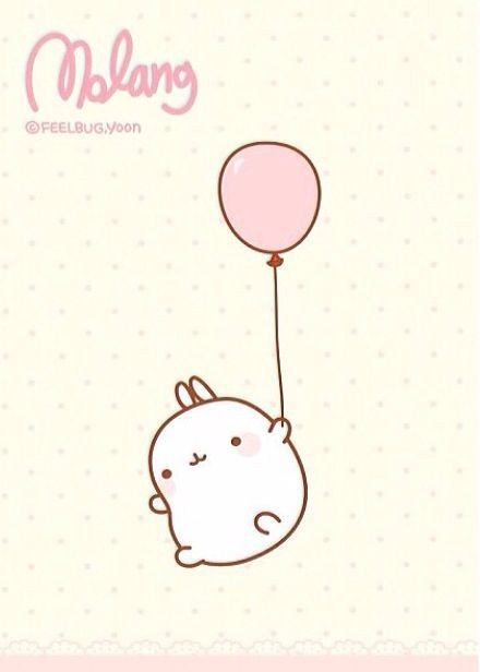 cute, pink, and molang image