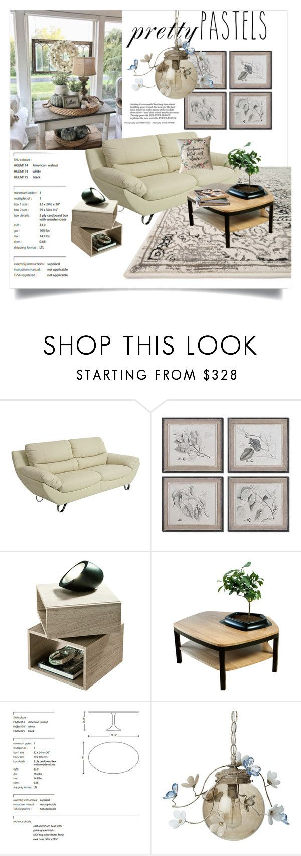 """""""Petty Pastel Decor"""" by clotheshawg ❤ liked on Polyvore featuring interior, interiors, interior design, home, home decor, interior decorating, Loloi Rugs, Pastel, Pacini & Cappellini and Nuevo"""
