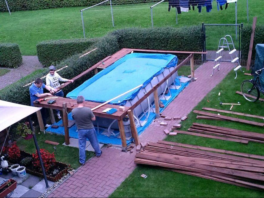 Pool Podest Selber Bauen Treppe Selber Bauen Pool Treppe Selber