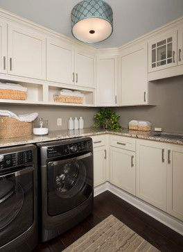 Charmant L Shaped Laundry Room, Floor To Ceiling Cabinets, Cubbies For Storage And  Add Personality With Lighting. Simple, Clean And Classic.