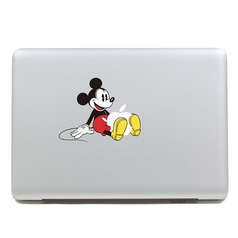 Removable DIY Avery colorful cool Mickey Mouse shape tablet sticker and laptop computer sticker for laptop,135x205mm
