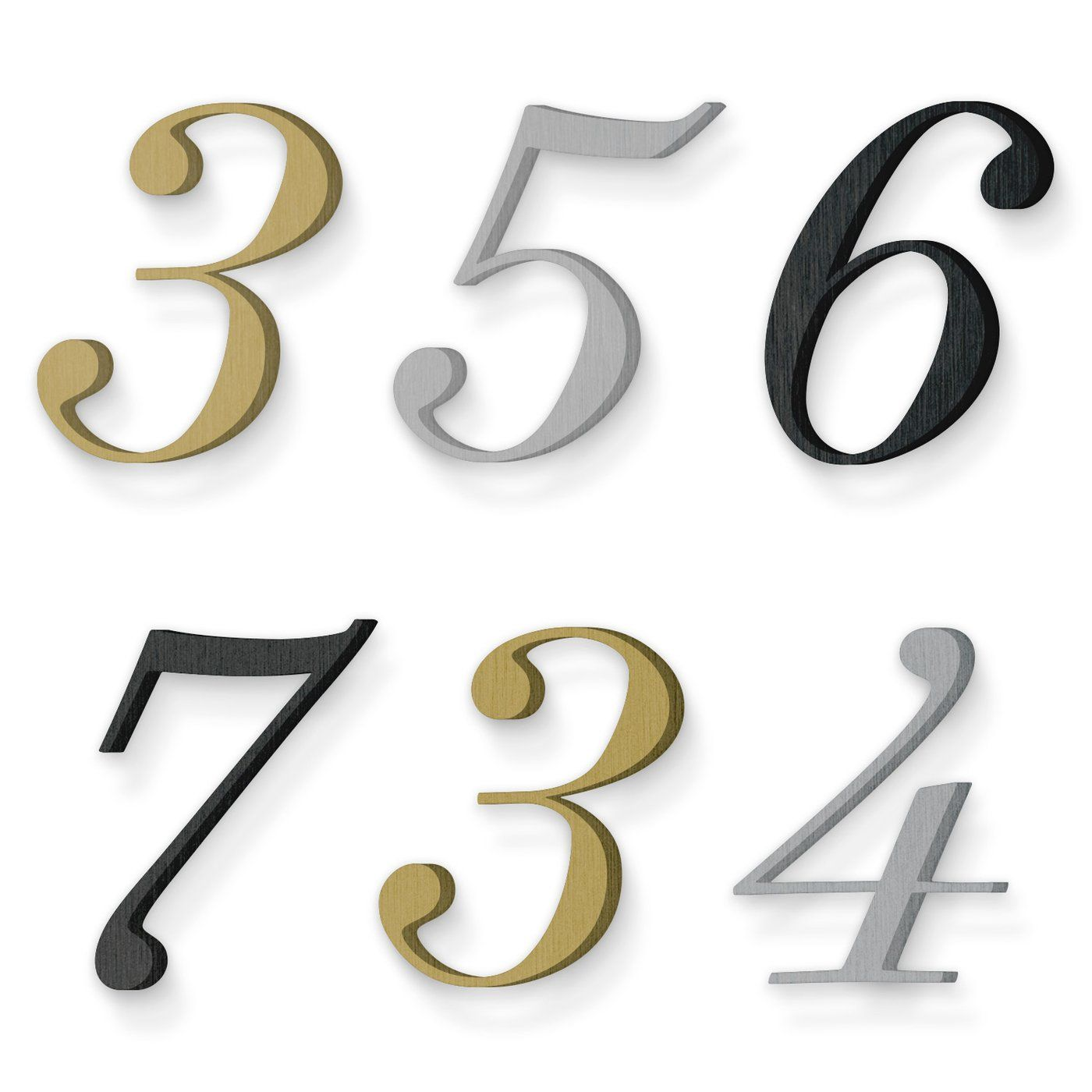 Custom house number font suveyor light italic Custom