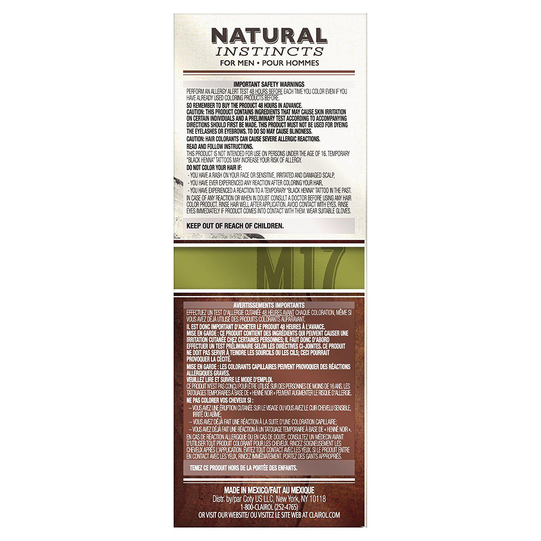 Clairol natural instincts hair color for men m brown black kit